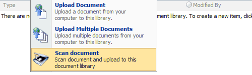 Integrated module to scan documents in SharePoint.