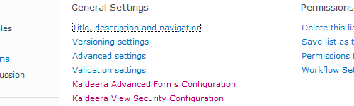 New standard SharePoint list settings option
