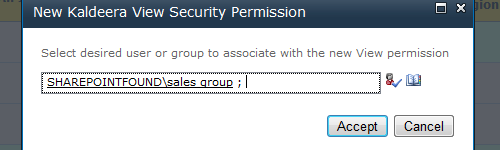 Setup a new security permission rule
