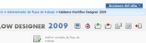 Diseñador Silverlight integrado en SharePoint