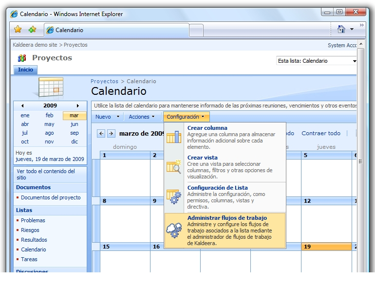 Total integración con SharePoint.